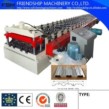 Profiled Steel Sheet Concrete Slab Plate Floor Decking Panel Roll Forming Machine With PLC Control System