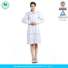 White Long-sleeve Hospital uniform, Lab coat, White coat