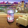 LED light acrylic water bubble decor glow coffee table