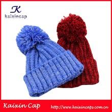 Warm women cotton/wool winter hat