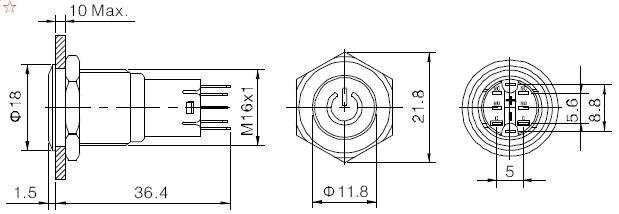 producto de f u00e1cil venta bicolor 16mm bot u00f3n pulsador