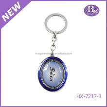 Hx-7217 venda quente lembrança rodada moda atacado barato personalizado de Metal nome Keychain