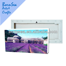 custom lavender digital picture stetched canvas prints picture printing wall painting