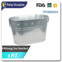 Galvanized painted oblong wine bucket TPOB0004