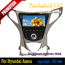 2 din Car Multimedia dvd mp3 mp4 player with built in wifi for Hyundai Azera Quad Core Android 4.4.2