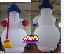 Christmas decoration 20ft inflatable Snowman lights led white mary hanging