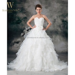 White layered wholesale price pictures of beautiful wedding gowns for fat bride