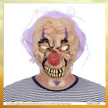 Jz7750 los fabricantes que venden creativas con pelo máscara de demonio máscara de látex de Halloween