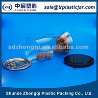2015 hot selling food grade round plastic food can with easy open lid