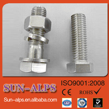 DIN933 DIN931 high-strength astm a325 stainless steel hex bolts