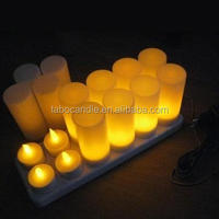 Flameless votive style wireless remote control rechargeable LED tea light