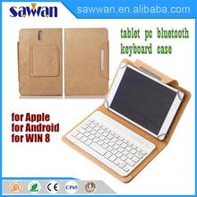 hottest sale good quality universal 7 inch bluetooth keyboard tablet pc leather case