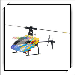 Plastic 6Ch 3D Rc Helicopter with Switchable Left & Right Hand Remote Control Yellw