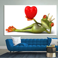 2015 home decor bulk items idea product 2015 sex images painting funny cartoon animal frog oil paintings 3d wallpaper for home