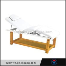 Good quality PU Leather wooden legs foldable massage table