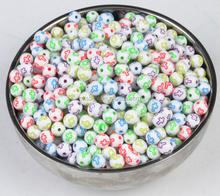 wholesale cross round beads diy plastic loose bead charm jewelry for kids bracelet