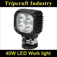 40w Square Led Work Light for Off Road High Power ATV 4x4 Tractor 30 Degree Spot Light