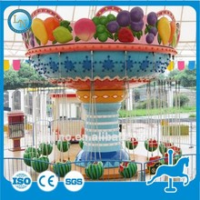 New 2015 playground equipment amusement swing rides for children Fruit Flying Chair for sale