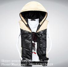 Class American style 100% cotton mens gym mens vest with hood wholesale