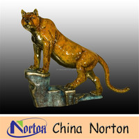 bronze tiger statues small bronze sculptures figurines antique NTBA-C063R