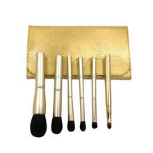 6 pcs professional cosmetic makeup brush set kit