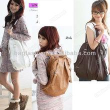 2012 Korean Style Fashion lady 2 Ways PU Leather School Shoulder Bag Backpack