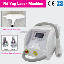 portable Q-switched Nd: YAG laser system is newly developed and ideally suited for removal of unwanted tattoos