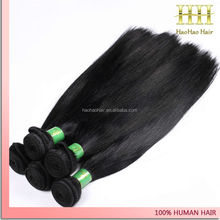 China manufacturer directly black silky straight hair bun 7a human hair buyers of usa