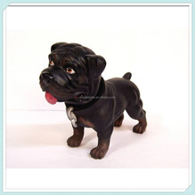 Rottweiler Dog Bobble Shaking Head animal dolls resin figurine craft