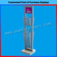High quality floor standing umbrella display rack/umbrella clothes display