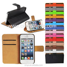 for apple iphone 5 case, for iphone 5 wallet case with book style credit cards slot holder, for iphone 5 leather flip case cover