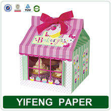 Cupcak Packaging Box, Paper Cupcak Box With PVC Window
