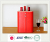 High quality handmade genuine / pu customize wine bottle carring case