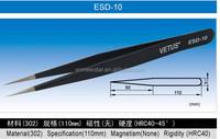 ESD-10 Vetus Stainless Steel Chip Tweezer for Semiconductor Industry