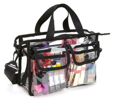 clear pvc cosmetic tote bag