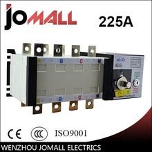 PC grade ats 225amp 220v 4 pole three phase transfer switch