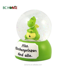 Fashionable snow globe decoration with animal inside