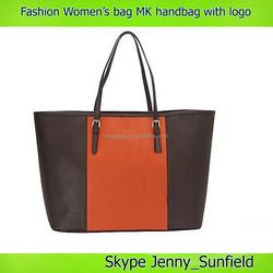 Tote bag with logo PU leather handbag MK designer handbags women multicolor