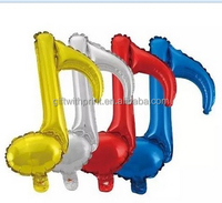 2015 New Music Note decoration metallic balloons