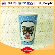 Gold supplier china dog 3d ceramic mug