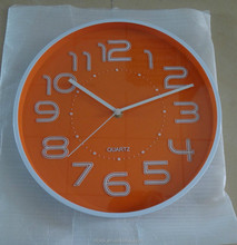 modern promotional wall clock with 3D number