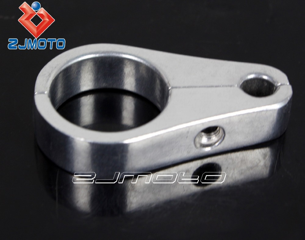 Custom Motorcycle Silver Frame Handlebar Cable Clamp Clutch Brake ...