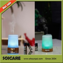 2014 SOICARE New arrivaling real wood&glass aroma rose oil