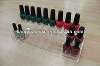 excellent counter top custom clear 3 tiers acrylic nail polish display rack for supermarket and retail store