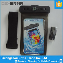 Underwater Custom Waterproof Bags for Beach Swimming Diving to Protect Your Cell Phones with Compass and Earphone Hole