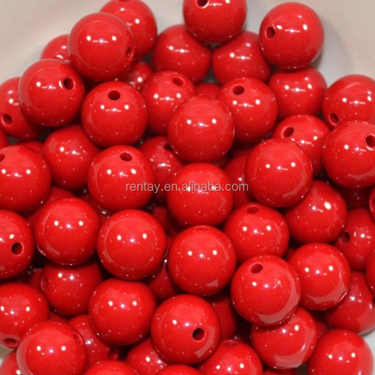 16mm Red Bubblegum Beads 20pc. Chunky gumball beads lot_conew1.jpg