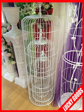 white decorative round large metal bird cage for sale