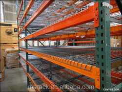 Low cost blue and orange double deep pallet racking with certificates