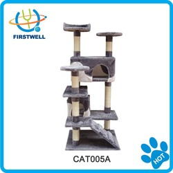 Wholesale pet products cat tree sisal cat scratcher