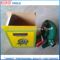 Green metal MANUAL PORTABLE hand AIR blower for bbq fan barbecue